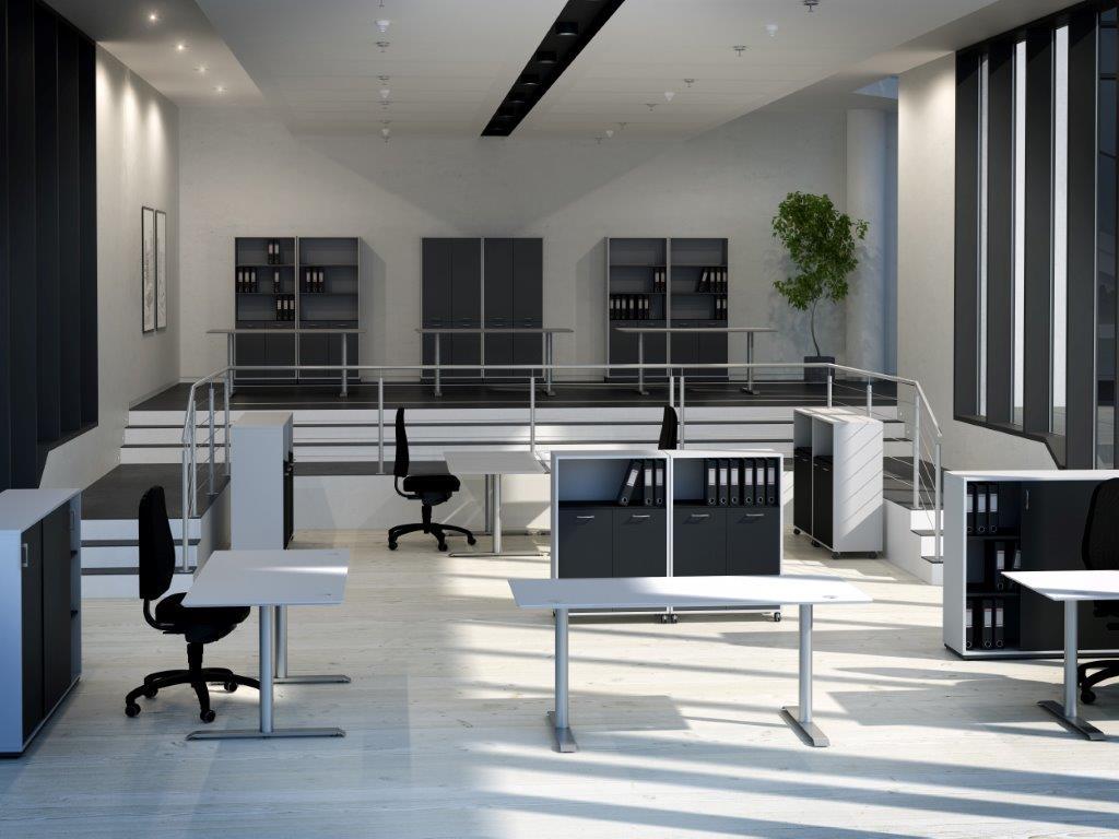Kontormøbler fra Fumac, Lanab Design og Saprsbord metallindustri