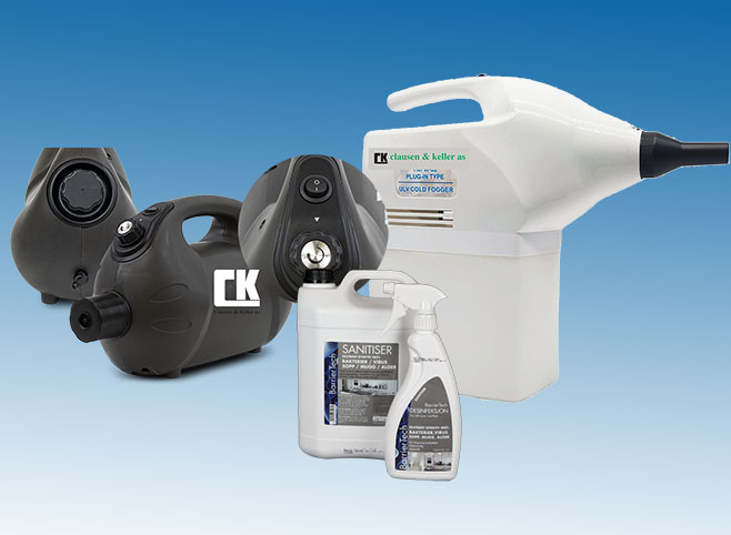 CK Desinfeksjon av overflater og håndhygiene med vannbaserte produkter og bevarende effekt